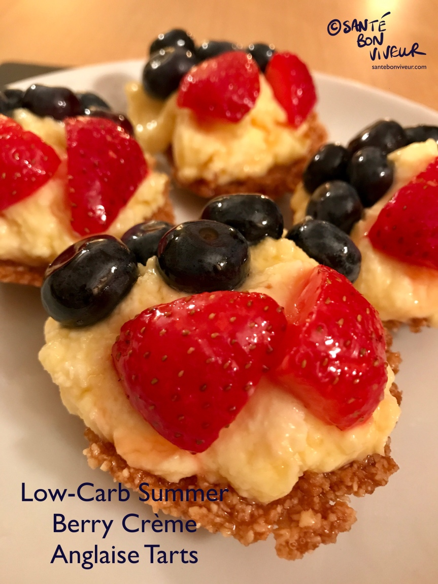 Low-Carb Swap Recipe: Summer Berry Crème Anglaise Tarts