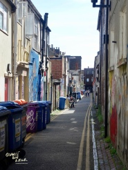 Street art abounds in the North Laine back alleys