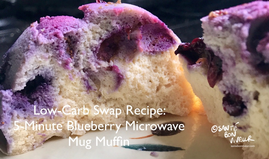 Low-Carb Swap Recipe: 5-Minute Blueberry Microwave Mug Muffin