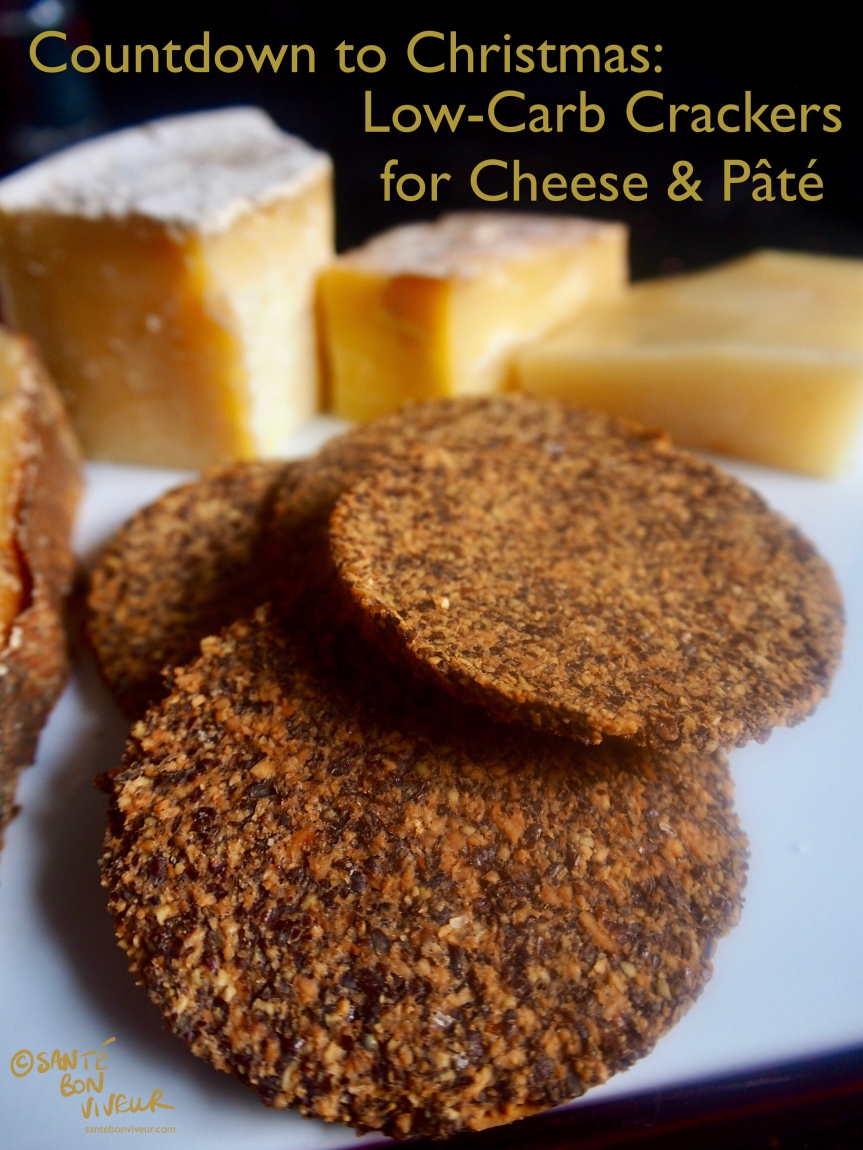Christmas Low-Carb Swap Recipe: 5-Ingredients Crackers for Cheese & Paté