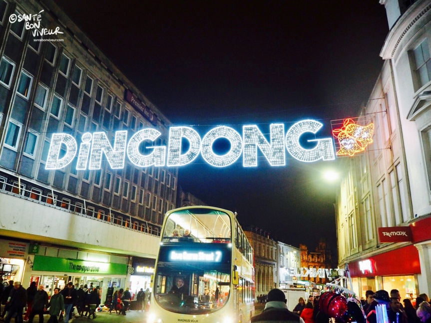 Ding Dong + the Co op, Christmas Lights, Brighton, England, UK, 2017